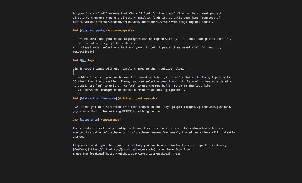Vim, a text editor – Sam's space